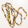 gold beads multi color crystals waist beads