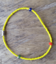 yellow beads with crystals anklet
