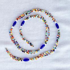 blue oval maasai waist beads