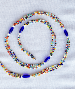 blue oval maasai waist beads