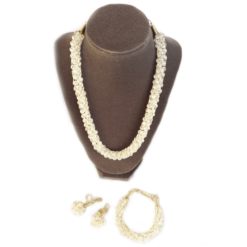 elegant clear crystals necklace set