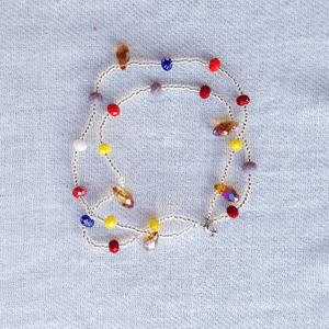 multi color crystals with gold crystals