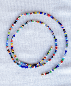 multi color mix african waist beads