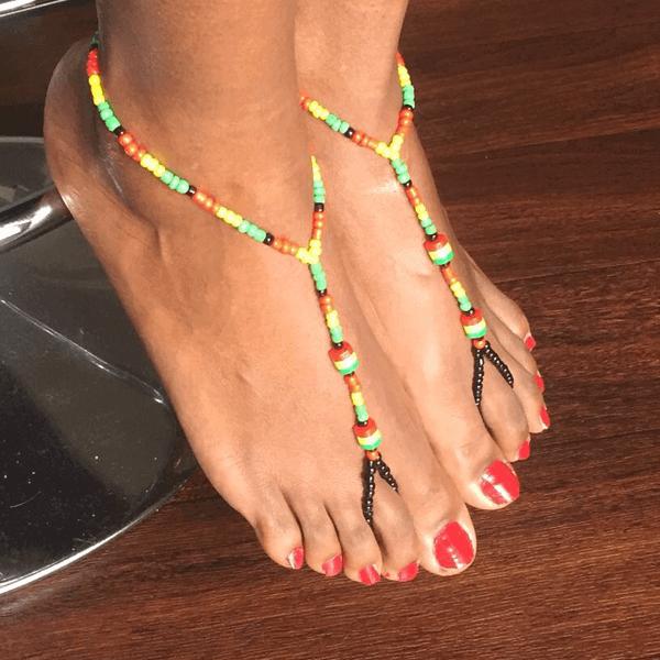 3a285f2b558 Rasta Color Barefoot Sandals