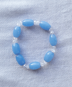 sky blue stretch crystal bracelet