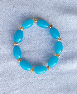 torquoise stretch crystal bracelet