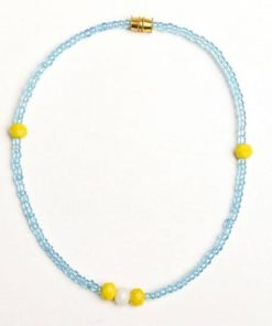 blue bead anklet