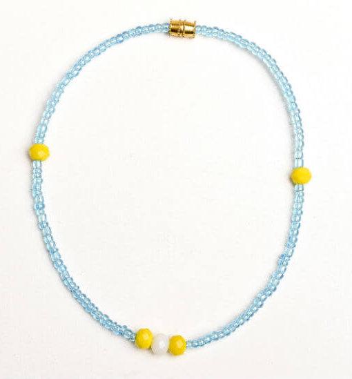 blue bead anklet