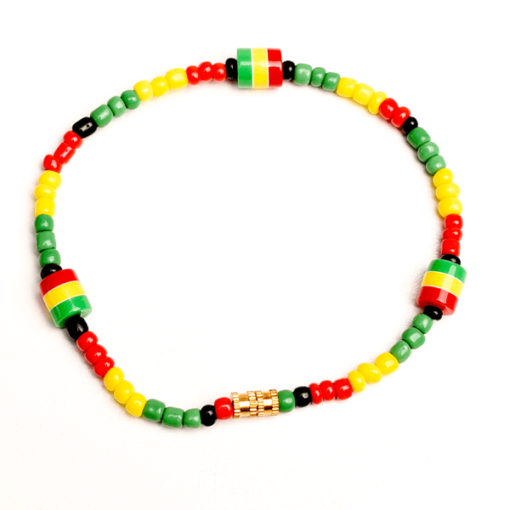 rasta beaded anklet
