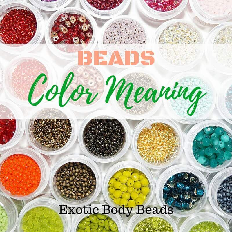 exotic body beads color meaning