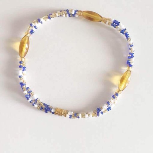 gold oval briliance anklet