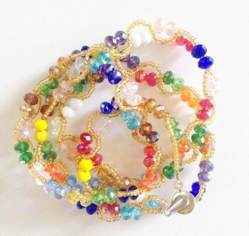 gold beads crystals waist beads