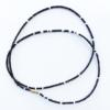 black white african waist beads