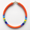 orange zulu choker necklace