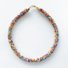 multi color mix choker necklace