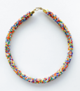 multi color mix choker necklace