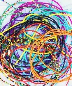 assorted african waist beads