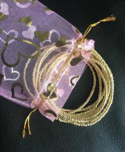 24k gold plated waist beads