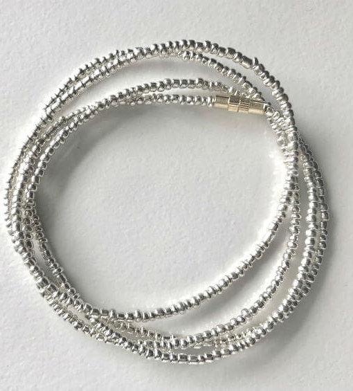 Silver African Waist Beads