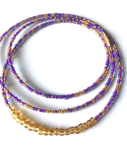 virgo zodiac waist beads