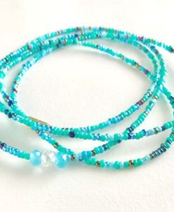 Aquarius zodiac waist beads