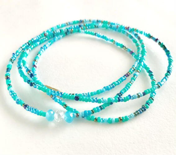 Aquarius zodiac waist beads