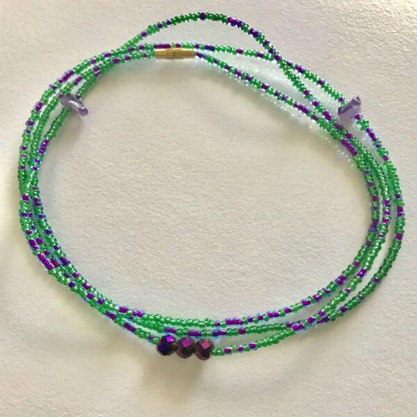 pisces zodiac waist beads