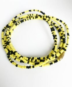 black & Yellow African Waist Beads