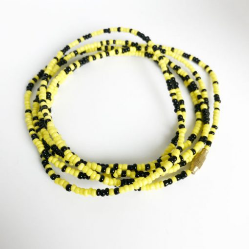 black & Yellow African Waist Beads