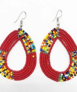 Red Maasai Earrings