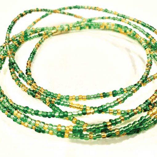 Green & Gold Waist Beads